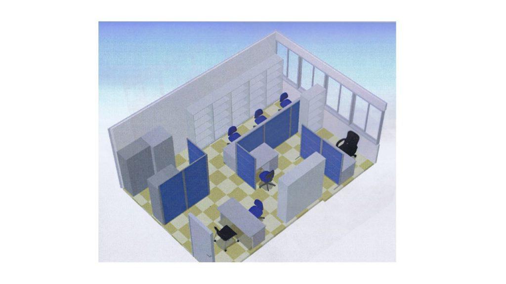 本社ビル4階の室内イメージ画像